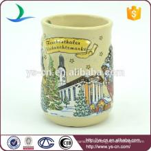 YScc0014-01 Großverkauf 3d Weihnachtskeramischer Becher