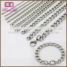 Wholesale Fashion Charm Cheap Men's Stainless Steel 8mm Curb Link Chain Necklace Jewelry