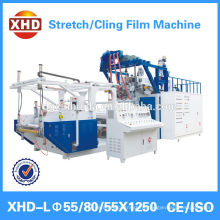 3 layer co-extrusion pe cling film machine