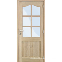 Solid Wood Stiles and Rails Oak Teak Mahogany Veneered Door