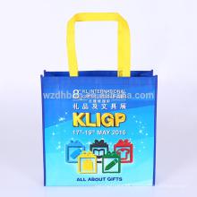 Ultramarinos no tejidos laminados del bolso de totalizador de la bolsa de asas de las compras del bolso de la venta caliente para el supermercado