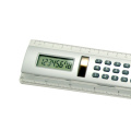 30cm ruler calculator with solar power silver color