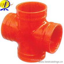 FM / UL Approved Ductile Iron Grooved Fitting Reduzierendes Kreuz