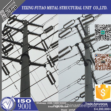 OEM electric transmission steel pole