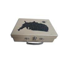 Kraft giấy kim loại xử lý vali hộp công cụ