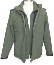 waterproof windproof breathable hood softshell jacket