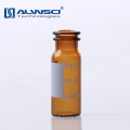 Lab analysis chromatography Snap top 2ml amber glass dram bottles