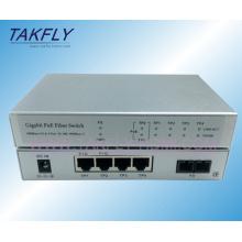 1000m1fx + 4tp Interruptor de fibra óptica Poe