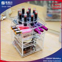 Organizador de maquiagem com gaveta e divisor