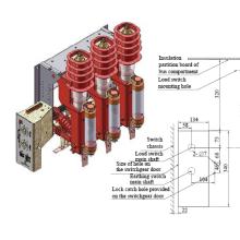 Combinação de Yfn12-12rd/125-21.5-fusível unidade AC interruptor de carga de alta tensão