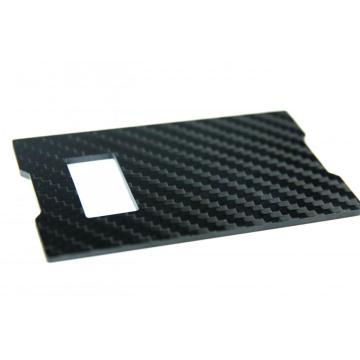 Square shape Carbon fiber bottle opener card holder