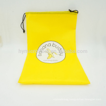 Factory wholesale cheap logo custom durable polyester drawstring bag