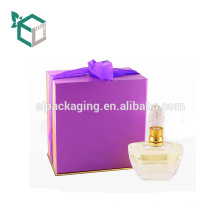Purple Cardboard Bottles Recyclable Paper Box For Perfume