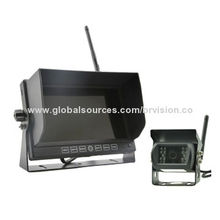 Rear-view Systems with Wireless Camera and Wireless Monitor, 12 to 24V Input Power