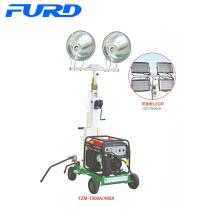 400W * 2 Handaufzugsrahmen Elektrischer mobiler Lichtmast (FZM-400A)