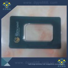Heißprägen Anti Gefälschte Goldmünze PVC Plastikkartenhülle