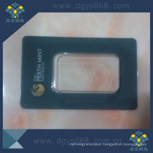 Hot Stamping Anti Fake Gold Coin PVC Plastic Card Sleeve