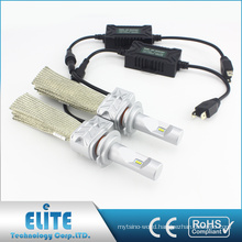Fanless LED Headlight Kits Pairs 8000lm 5S H7 6500K Clearest White Beam Driving Bulb with PHI ZES CSP