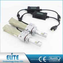 Fanless Kits de Farol LEVOU Pares 8000lm 5 S H7 6500 K Mais Claro Feixe Branco Lâmpada de Condução com PHI ZES CSP