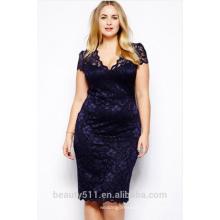 Большой V воротник сексуальный и тонкий юбка платье с коротким рукавом карандаш платье PS08