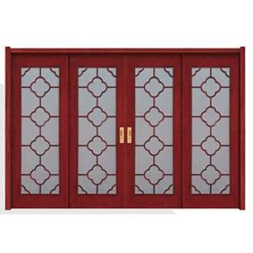 Porta de madeira interior com vidro para moradias
