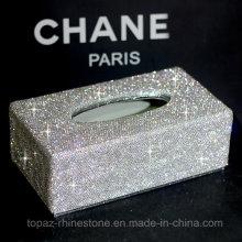 Customized Crystal Stick Rhinestone Tissue Box Creative Tissue Paper Napkin Box (TBB-003)