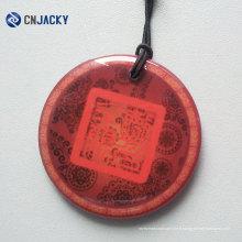 Étiquette de NFC de poinçon de trou de carte d'époxyde de cristal de conception faite sur commande de conception