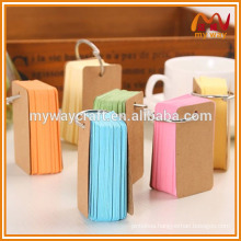 small size promotional colorful memo pad & notepad with metal circle for wholesale