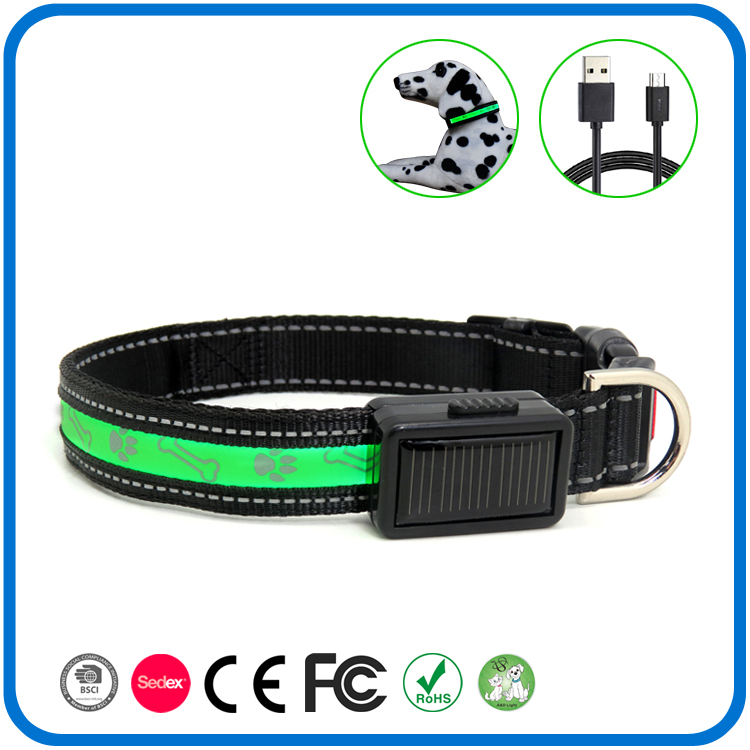 Contoh Gratis Flashing Light Pet Dog Collar