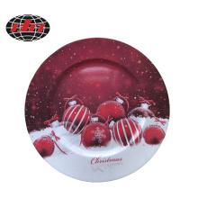 Christmas Ball Plastic Charger Plate