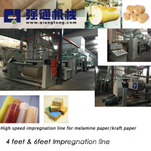 Melamine paper coating machine/ 4 feet melamine paper line