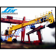 Offshore Hydraulic Straight Telescopic Boom Ship Deck Crane 40T