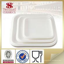 Vaisselle de grès en gros, plats peu profonds carrés