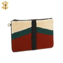 Высокое качество с лучшей ценой Молодой стильный монгольский барашек и натуральная кожаная сумка из меха