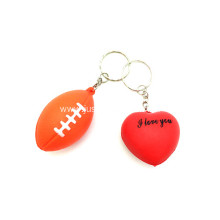 Promotional Pu Stress Balls Key Chain