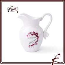 Jarro decorativo de jarro de leite de cerâmica