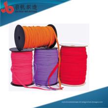 Fabrik stellt hohe Hartnäckigkeits-Eigenschaft Mehrzwecköko-freundliche Qualitätsbaumwolle-Fischgrätenmuster gestricktes tublur Zugschnur her
