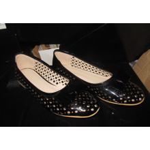 Novas mulheres da moda estilo liso vestido de sapatos (hcy02-1498)