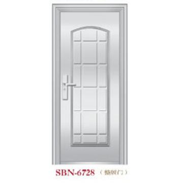 Porta de aço inoxidável para a luz do sol exterior (SBN-6728)