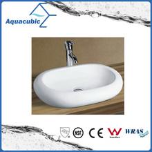 Lavabo de la cerámica de la cocina del arte del gabinete y de la tapa de la vanidad (ACB8032)