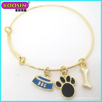 Модный Изготовленный На Заказ Металл Золото Эмаль Собака Тематический Браслет