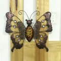 Antiguo jardín de la pared de arte de metal mariposa Decoration-46cm