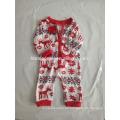 2017 venta caliente imprimió homewear de los niños pijamas de la Navidad de los cabritos al por mayor