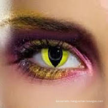 Yellow Cat Eyes Colored Cosplay Crazy Contact Lens