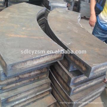 Corte de chapa de acero aleado