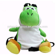 Plush toy frog animal school satchel bags for teens