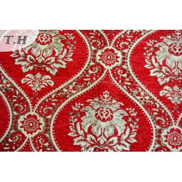 Tissu de canapé rouge à tapis de Dubaï 310GSM (fth31804)