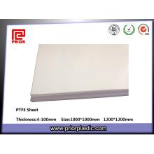 Natürliche Farbe PTFE Teflonblatt Hersteller