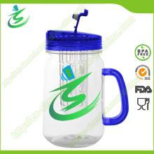 16oz Mason Jar, vaso de agua de plástico con mango (IB-A5)