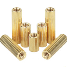 Brass M2 Round Female To Female Threaded Knurled Standoff Spacer